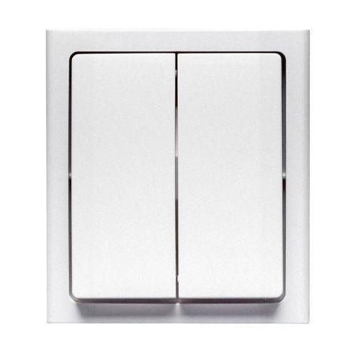 Włącznik podwójny BRAVO Biały POLMARK (5907559868738)