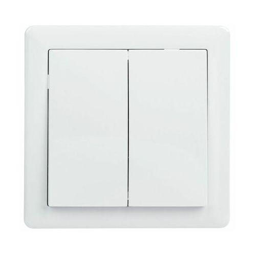 Lexman Włącznik schodowy podwójny slim biały