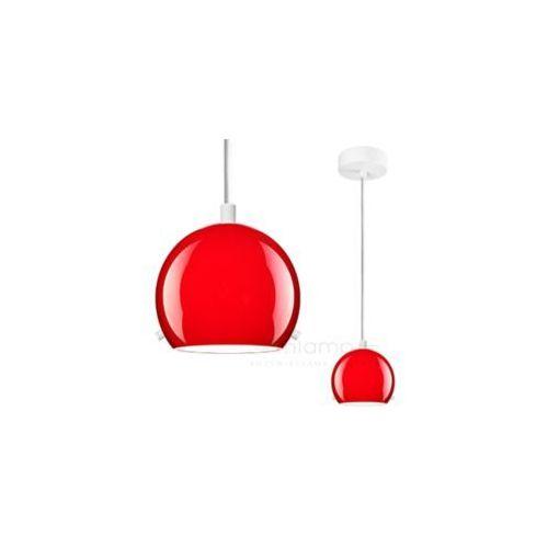 LAMPA wisząca MYOO 1/S/RED/OPAL Sotto Luce szklana OPRAWA nowoczesna ZWIS kula czerwona