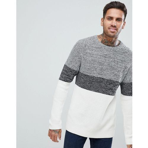 knit jumper with block stripes in off white - white marki Pull&bear