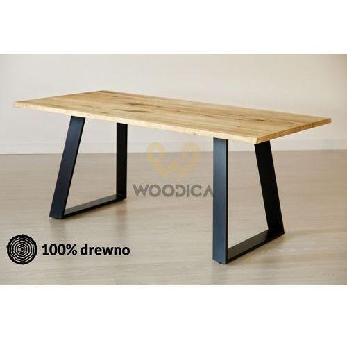 Stół dębowy na metalowych nogach 16 200x75x100 marki Woodica