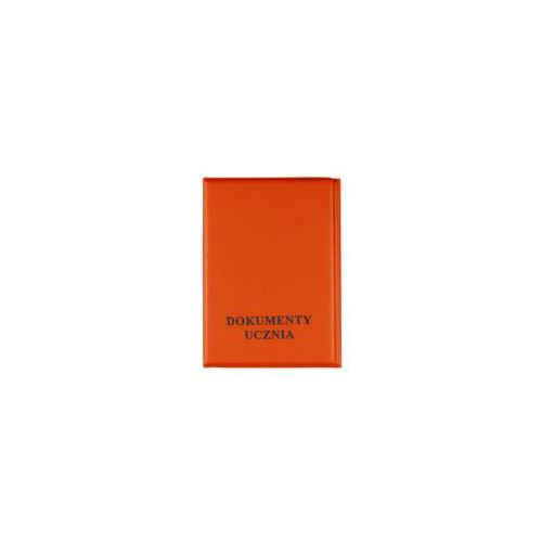 Okładka etui na legitymację szkolną, dokumenty - pomarańczowy marki Biurfol