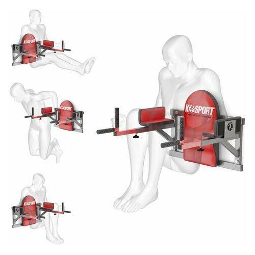 K-sport Poręcz treningowa do ćwiczeń mięśni brzucha ścienna wyprofilowana ksh005/sk
