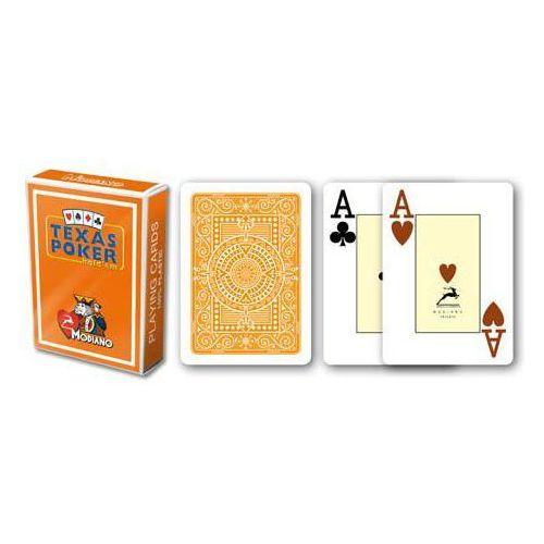 2 rogi 100% plastikowe karty - pomarańczowe marki Modiano