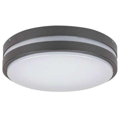 Sufitowa LAMPA zewnętrzna HAMBURG 8848 Rabalux okrągła OPRAWA plafon LED 12W 4000K kinkiet outdoor IP44 grafitowy biały