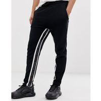 Good For Nothing skinny cropped joggers in black with logo side stripe - Black