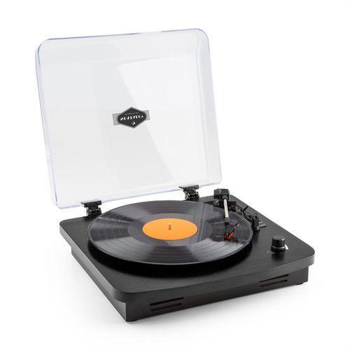 auna TT370 Gramofon w stylu retro z wbudowanymi głośnikami USB MP3 AUX czarny, kup u jednego z partnerów