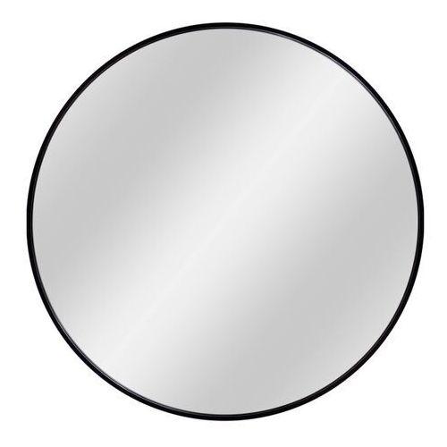 Dubiel vitrum Lustro okrągłe nico 70 cm w ramie czarne
