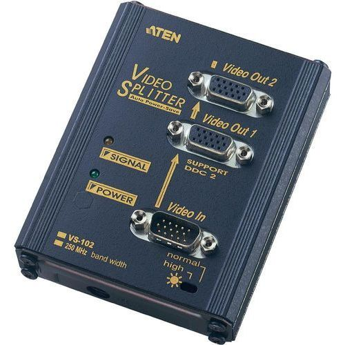 Aten Splitter 2x VGA 250MHz (VS102-AT-G) Darmowy odbiór w 20 miastach!