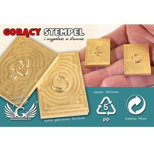 Grawernia.pl - grawerowanie i wycinanie laserem Stempel do wyciskania logotypu na gorąco i zimno - wymiary matrycy: 25x35mm - cnc