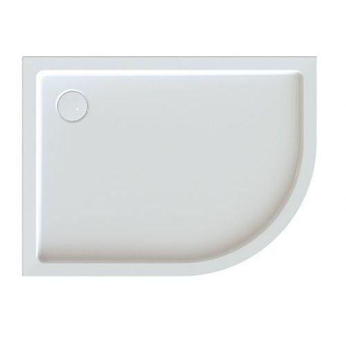 Sanplast brodzik półokrągły asymetryczny free line bp-l/free 80x100x5+stb 80x100x5cm