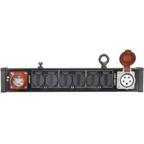 Showtec BreakoutBar 4 - dystrybutor 16A 5p (IN/OUT) => 6 x 230V
