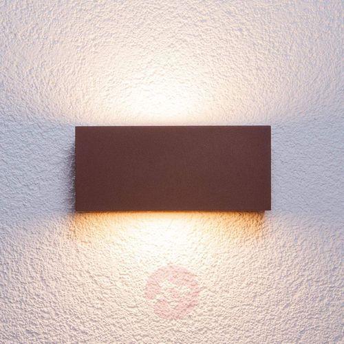 Prostokątna lampa ścienna zewnętrzna Bente rdzawa (6291105700795)