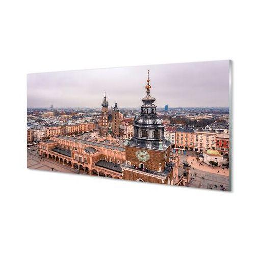 Obrazy akrylowe Kraków Panorama zima kościoły