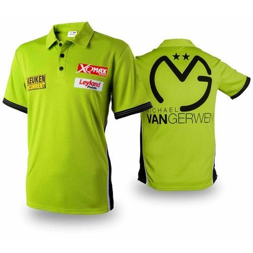 XQmax Darts Koszulka meczowa, replika MvG, zielona, L QD9200540