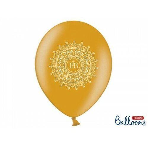 Oms Balony komunijne złota koronka złote 6szt (5901157493620)