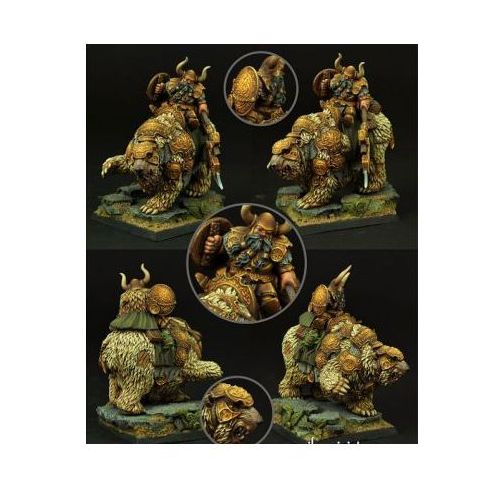Scibor miniatures Scibor 28fm0049 - dwarf warrior on war bear 28mm