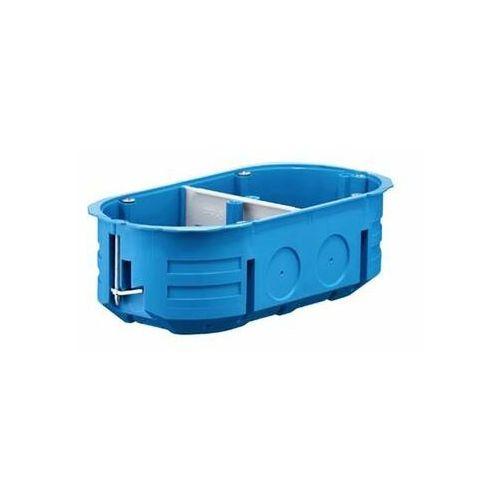 Puszka podtynkowa podwójna 60mm regips niebieska P2x60K 32322203 (5907813231384)