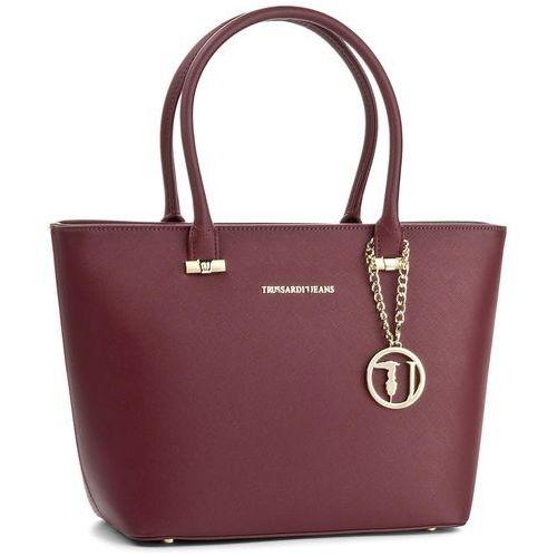 Torebka TRUSSARDI JEANS - Levanto Shopping Bag 75B00018 R290, kolor czerwony