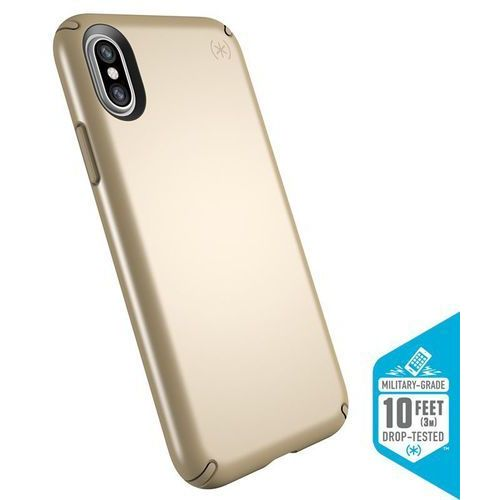 presidio metallic etui obudowa iphone x (pale yellow gold metallic/camel brown) marki Speck