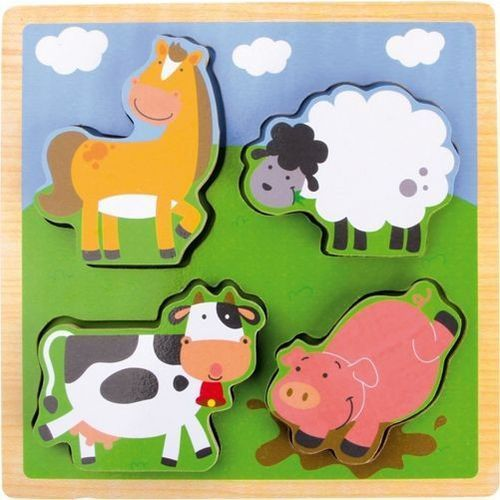 Small foot design Puzzle gospodarstwo - układanka dla najmłodszych dzieci