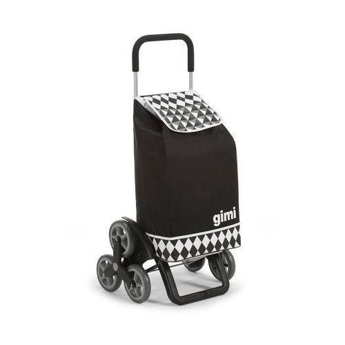 Tris optical czarna torba na zakupy na kółkach marki Gimi