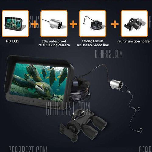 X2b night vision ipx7 waterproof dual-lens visual fish finder od producenta Gearbest