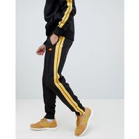 cassed joggers with side stripe in black - black, Ellesse, XS-XL