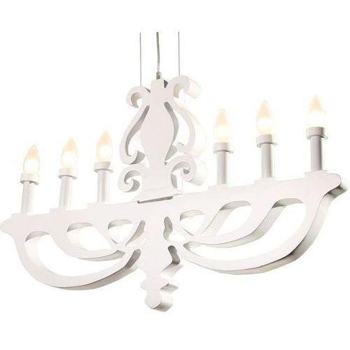 Candellux Lampa wisząca  damar 6x40w biały + darmowy transport! (5906714726272)