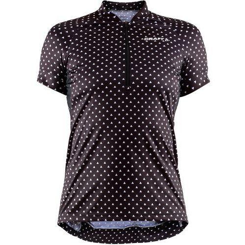 Craft koszulka rowerowa damska velo art, czarny z białym wzorem m