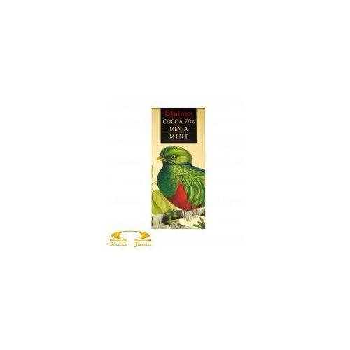 Gorzka czekolada Stainer 70% z miętą, 5754-4685C