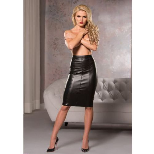 Allure Faux leather knee length skirt