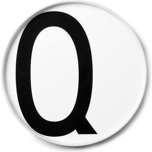 Talerz porcelanowy AJ litera Q
