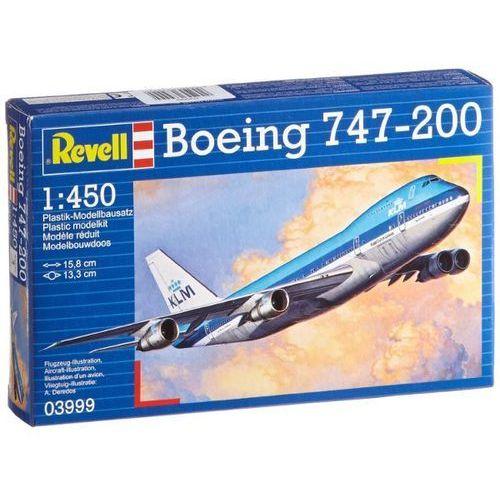 Revell Model boeing 747-200 1:450 zestaw z farbami (4009803639994)