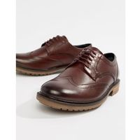 Silver street brogue lace up shoe in brown - brown