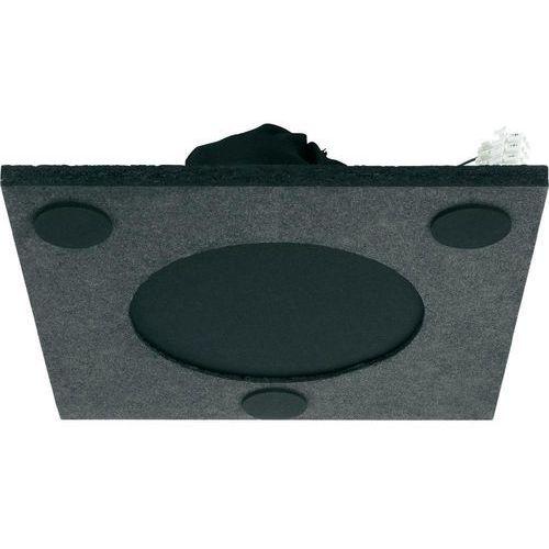 Głośnik sufitowy PA do zabudowy Monacor EDL-310L, 50 - 18 000 Hz, 100 V, Kolor: czarny, 1 szt. - produkt z kategorii- Głośniki i monitory odsłuchowe