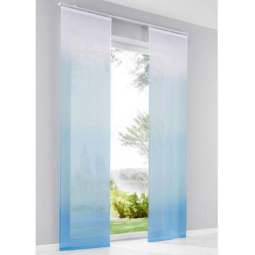 """Zasłona panelowa """"Cieniowane kolory"""" (1 szt.) bonprix niebieski z nadrukiem"""