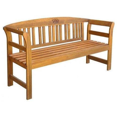 Drewniana ławka ogrodowa nuln - brązowa marki Producent: elior