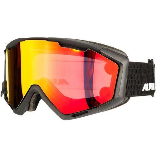 Alpina panoma magnetic q+sm s1+s3 gogle czerwony/czarny 2017 gogle narciarskie (4003692231567)