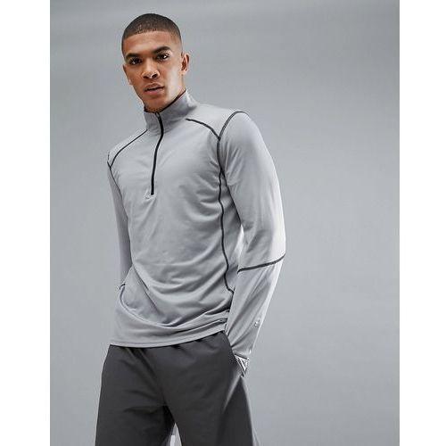New Look SPORT Long Sleeve Top With Half Zip In Grey - Grey