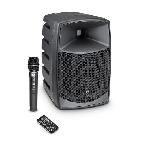 roadbuddy 6 przenośny zestaw nagłośnieniowy 50w rms z mikrofonem bezprzewodowym doręcznym, bluetooth, mp3 marki Ld systems