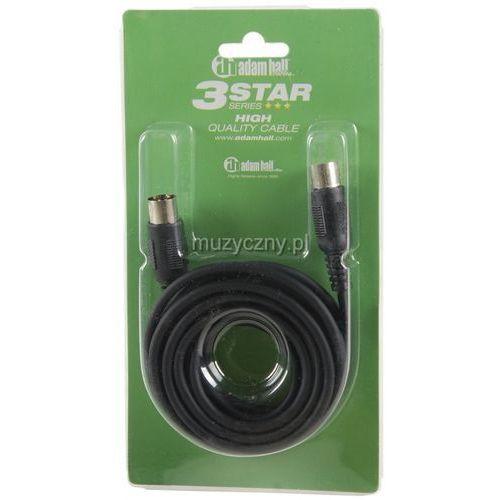 Adam Hall K3 MIDI 0300 BLK kabel MIDI 3m (czarny)
