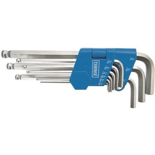 """zestaw kluczy imbusowych 1/16""""-3/8"""", 9 elementów (43000343) marki Narex"""