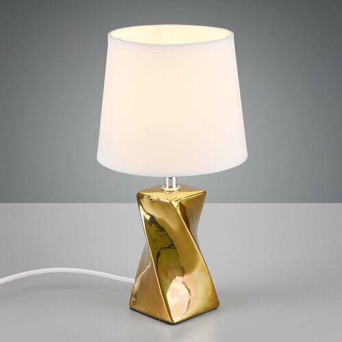 Trio RL Abeba R50771579 lampka stołowa biurkowa 1x40W E14 złoty / biały