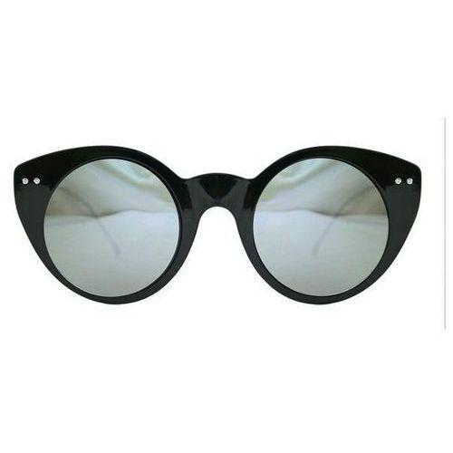 Okulary Słoneczne Spitfire Super Symmetry Tr90 Black/Silver Mirror, kolor żółty