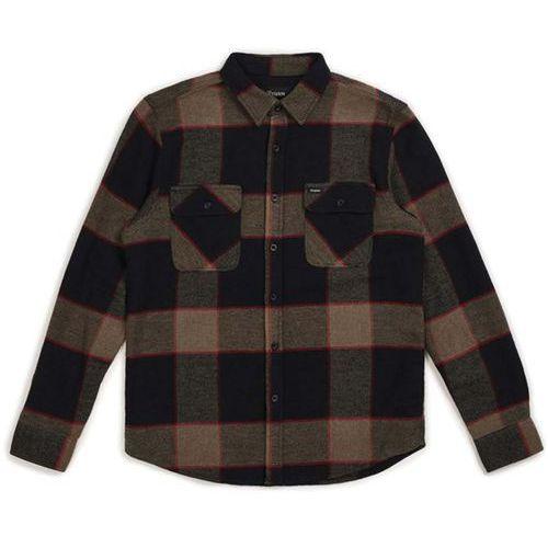 Brixton Koszula - bowery l/s flannel heather grey/charcoal (htgch) rozmiar: xl