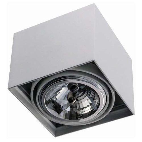 Spot LAMPA sufitowa CARDI I BIANCO Orlicki Design minimalistyczna OPRAWA metalowa kostka biała (1000000470949)
