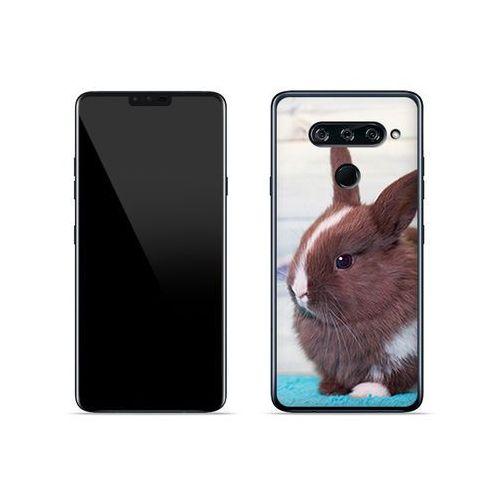 LG V40 ThinQ - etui na telefon Foto Case - brązowy królik, ETLG813FOTOFT009000