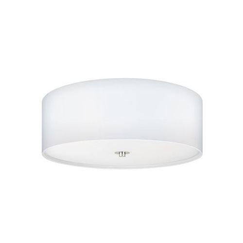 Eglo Plafon lampa sufitowa pasteri 94918 okrągła oprawa abażurowa biała (9002759949181)