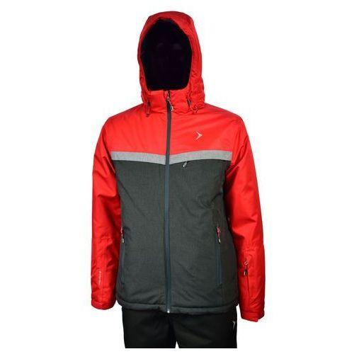 MĘSKA KURTKA NARCIARSKA OUTHORN KUMN601 5000 CZERWONY L, kolor czerwony